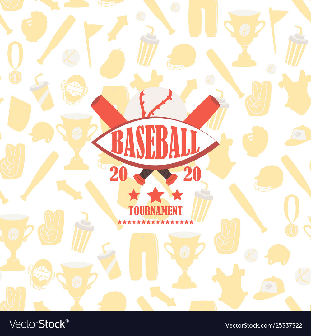 Baseball tournament icon on background
