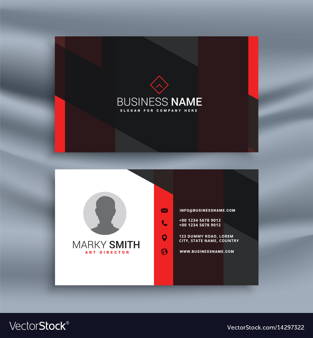 Dark corporate business card with profile photo