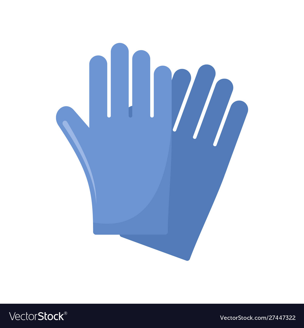 Rubber gloves icon flat style