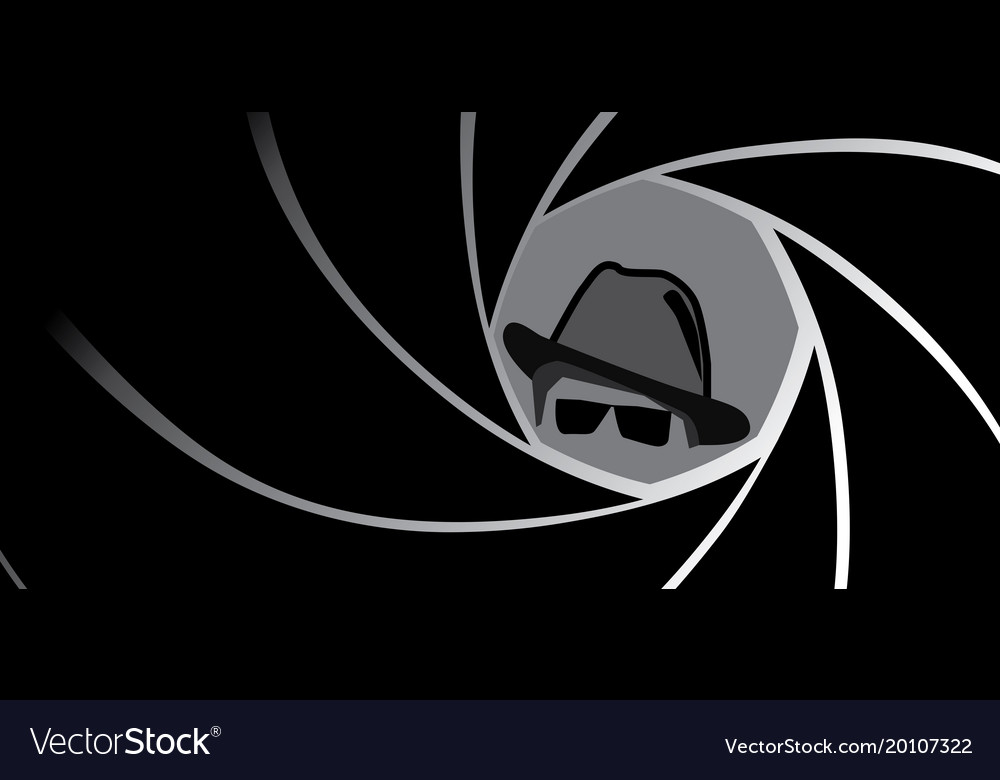 Spy agent gangster or detective in fedora hat