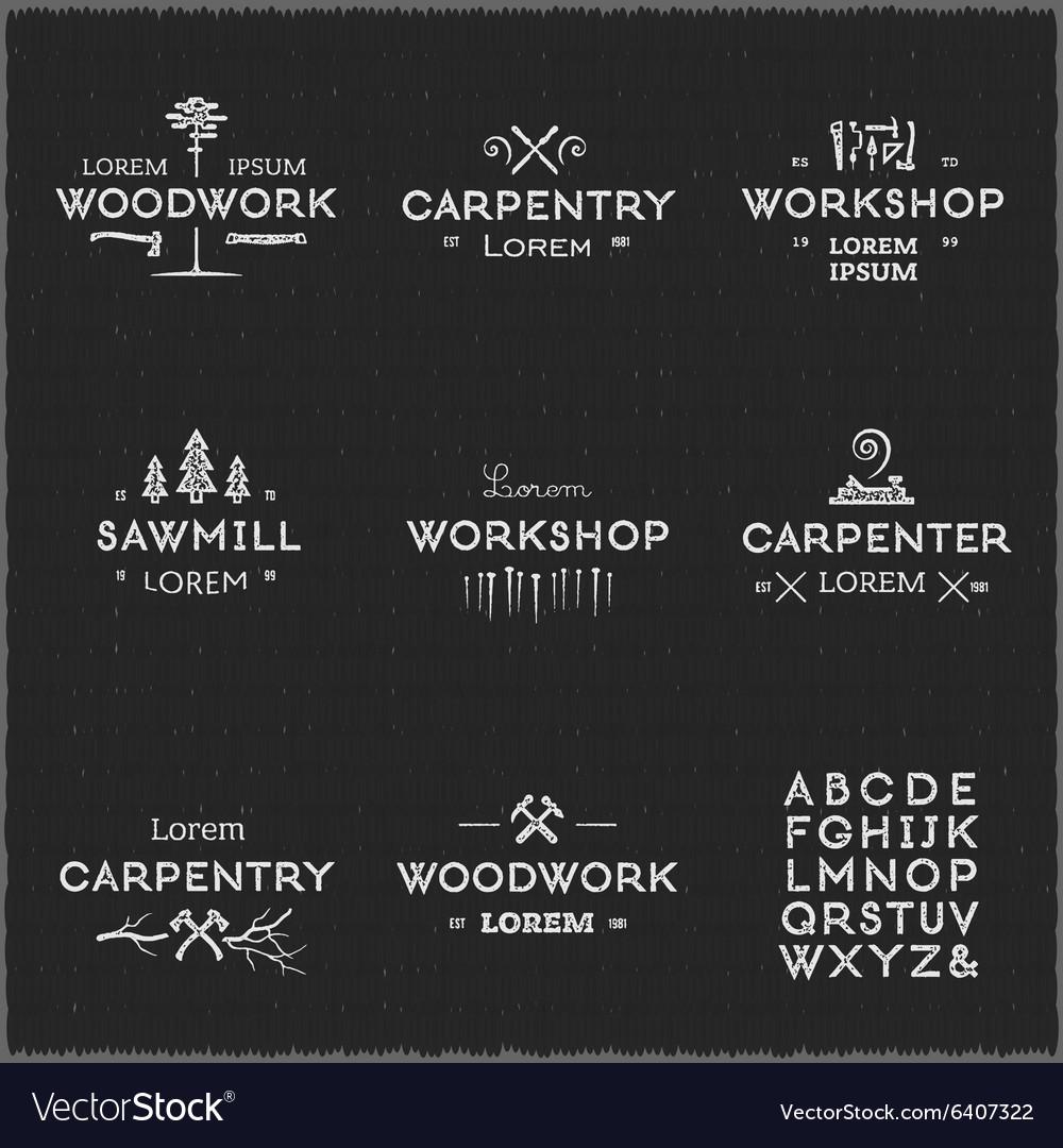 Vintage woodwork logotypes