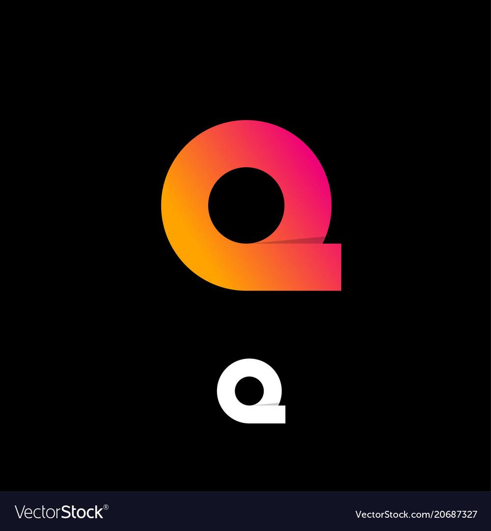 Logo q pink yellow