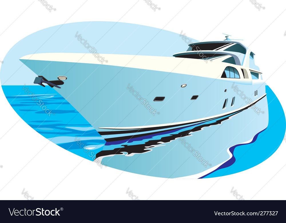 Luxury yacht vector image