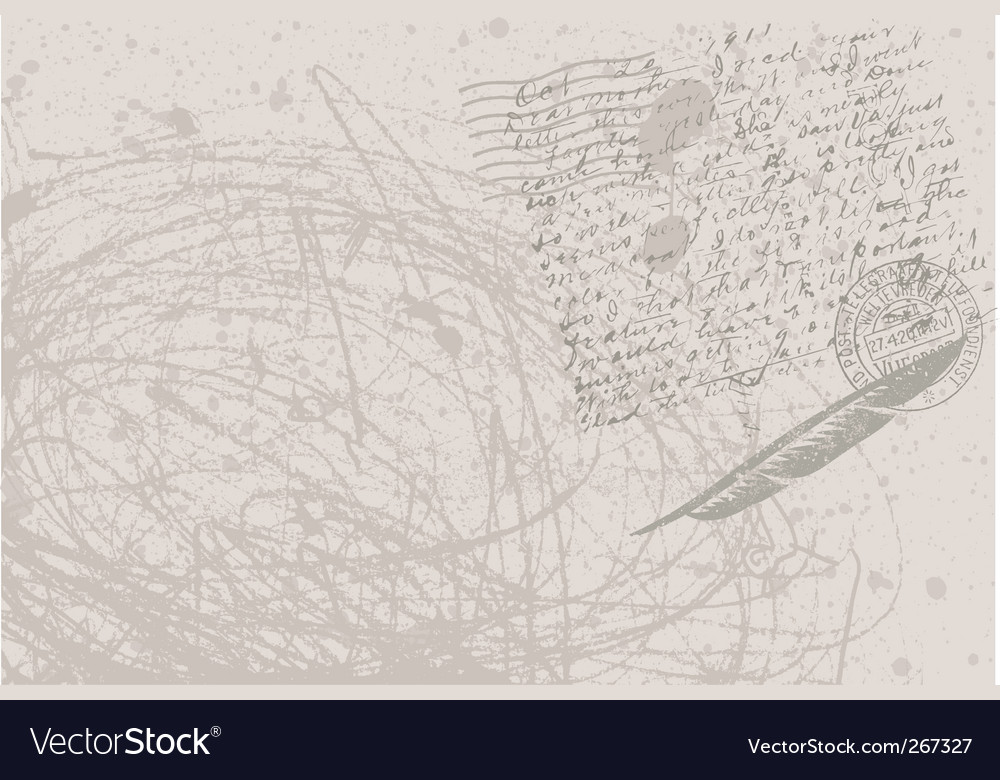 postcard background vector image