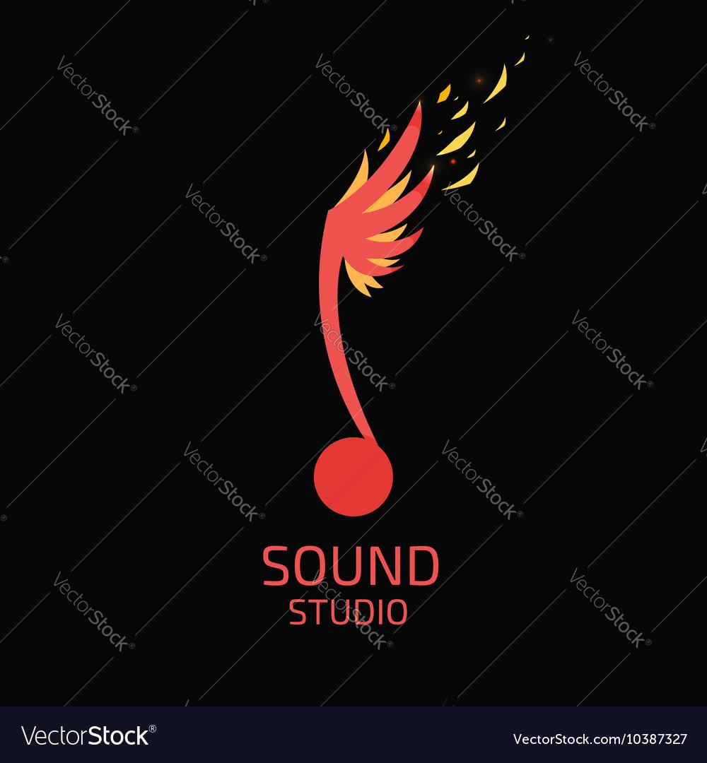 Record Studio logo flat style