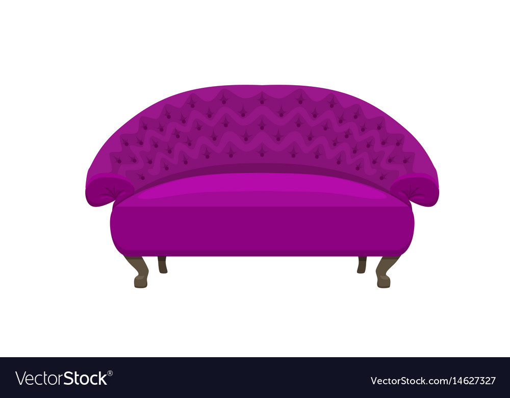 Sofa And Couches Colorful Cartoon Royalty Free Vector Image