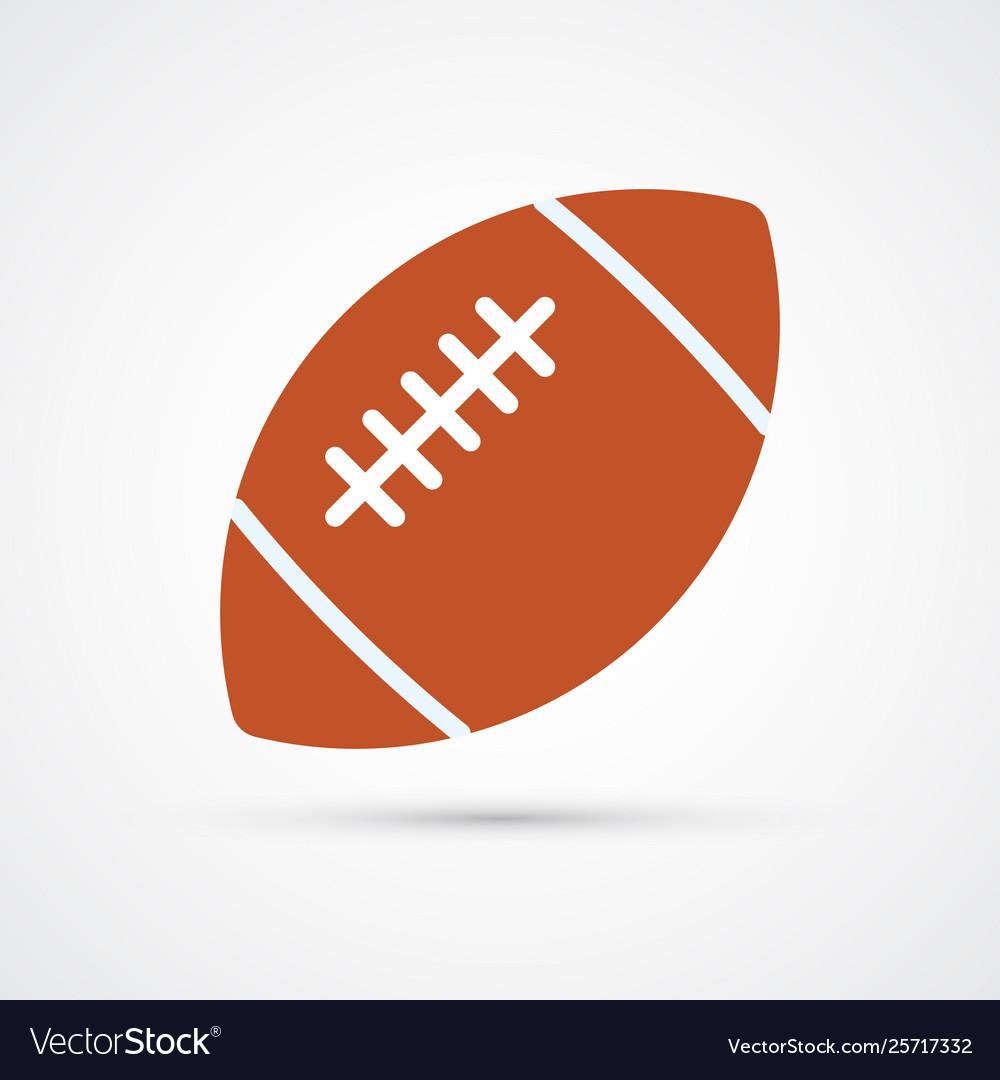 American football colored ball