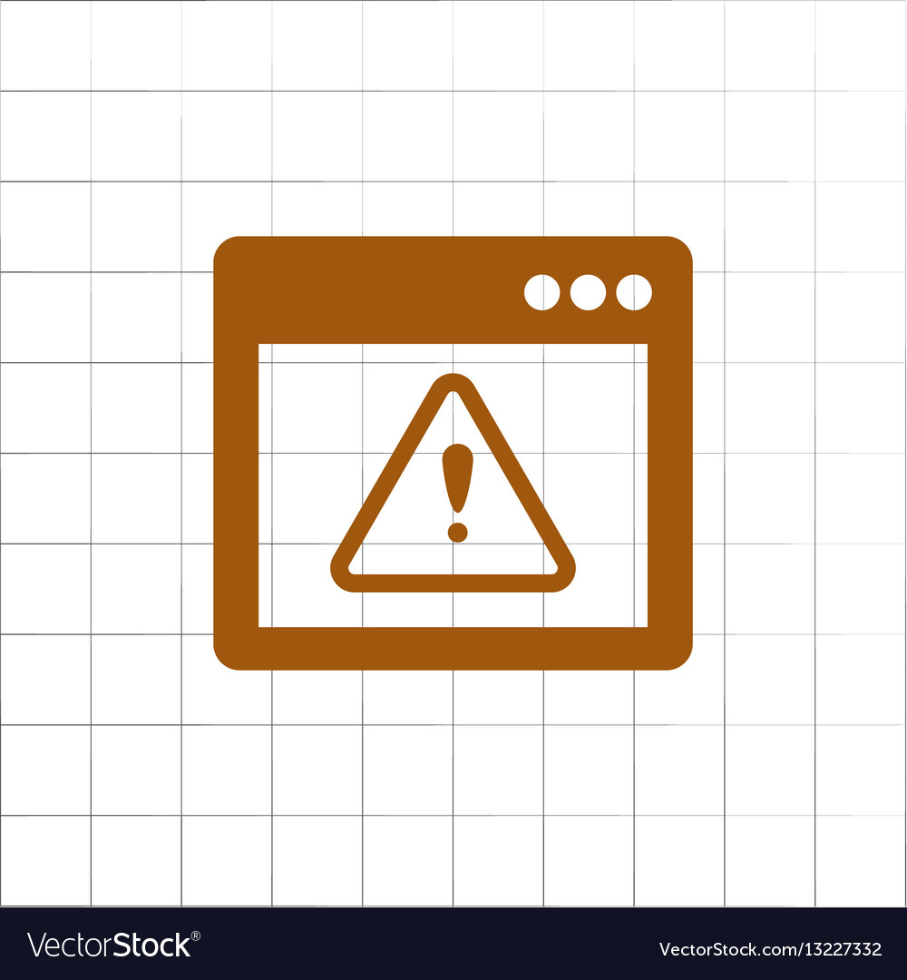 Application warning color icons on sunk push vector image