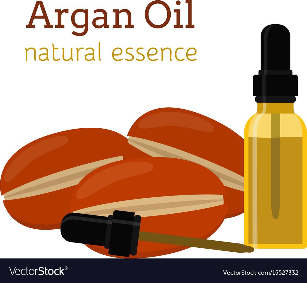 Argan natural oil essential oil cosmetics