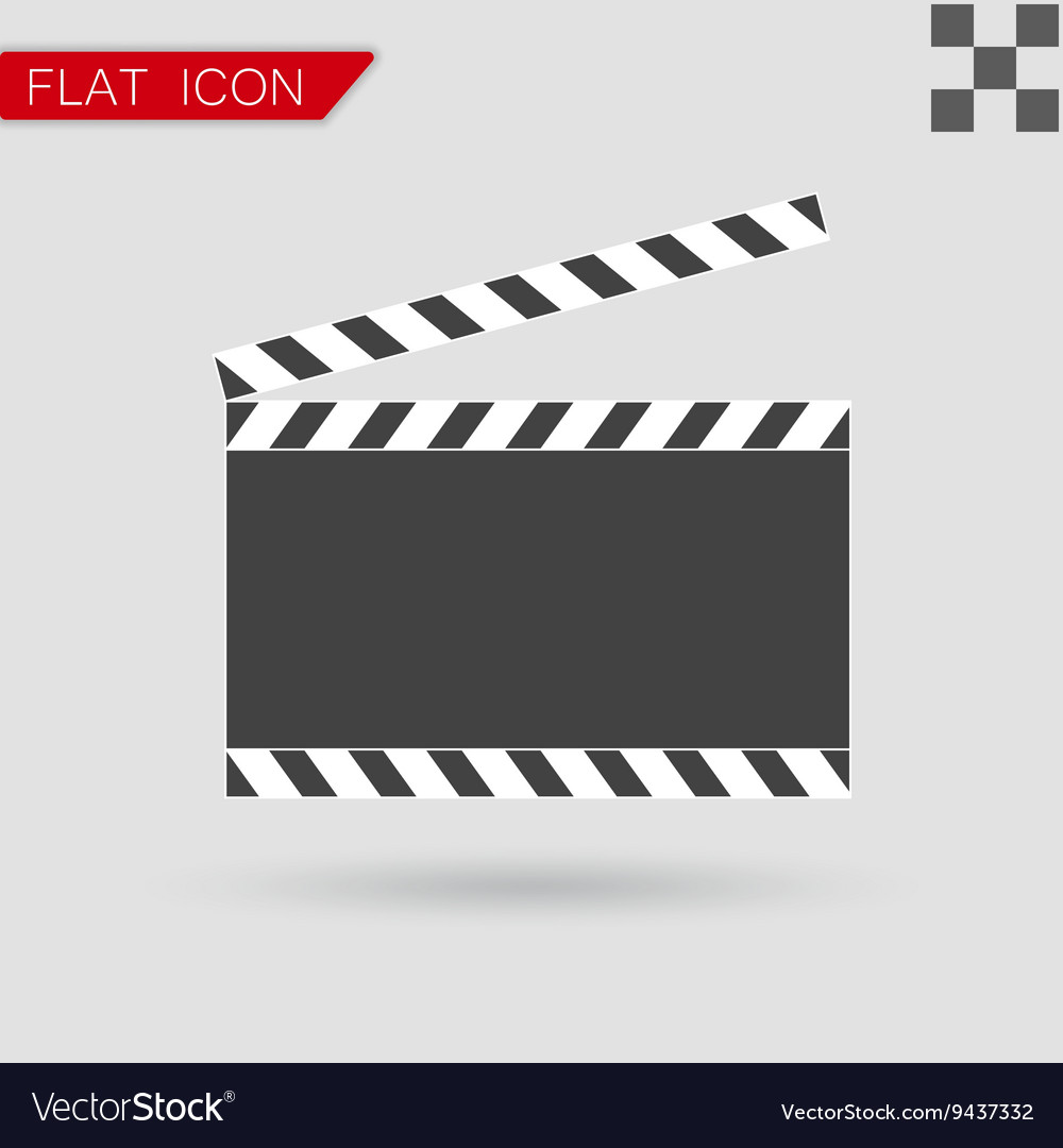Art Film clapper board icon Flat Style vector image