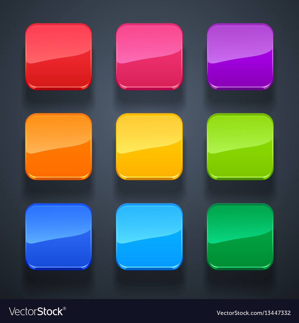 Background for app icons-glass set