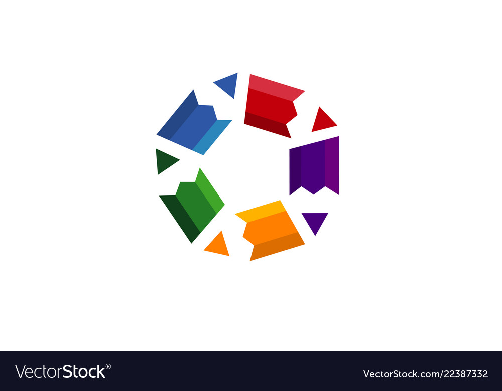 Creative pen stars logo