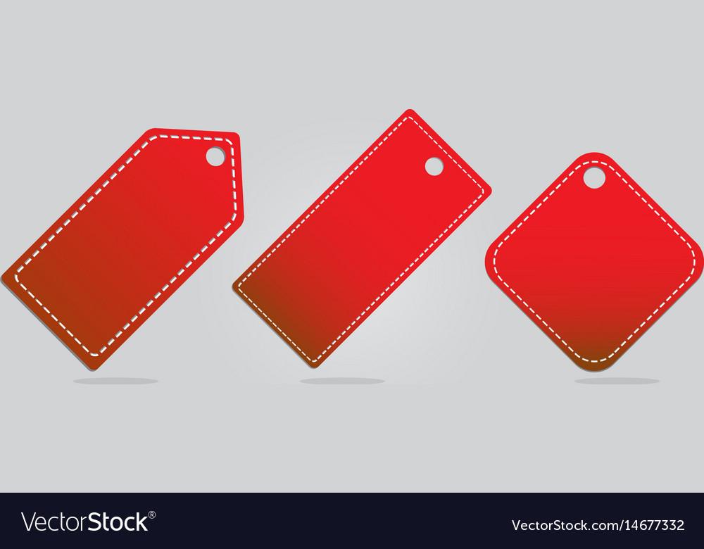 Red banner set on background