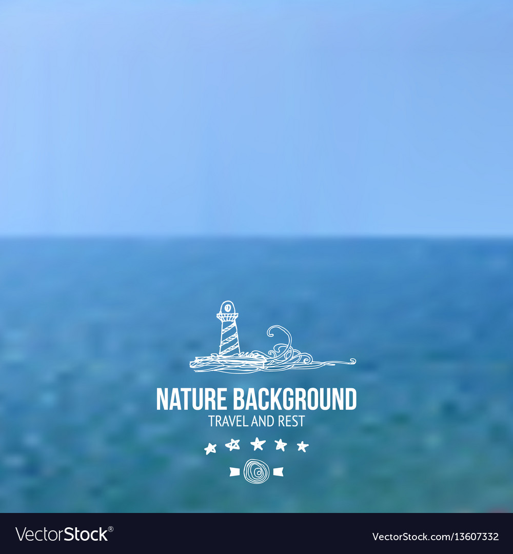 Sea and sky blured background vector image