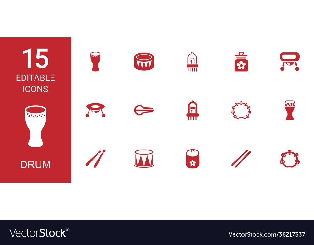 15 drum icons
