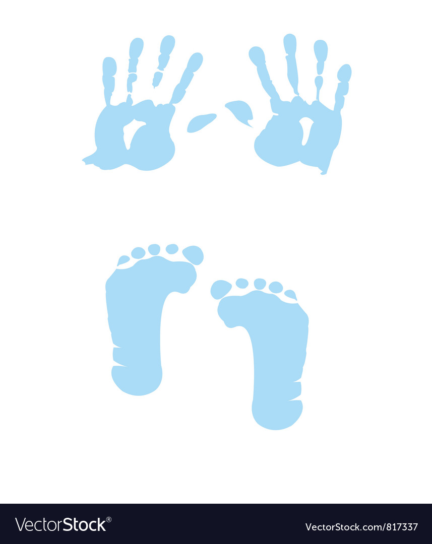 Baby boy handprint footprint
