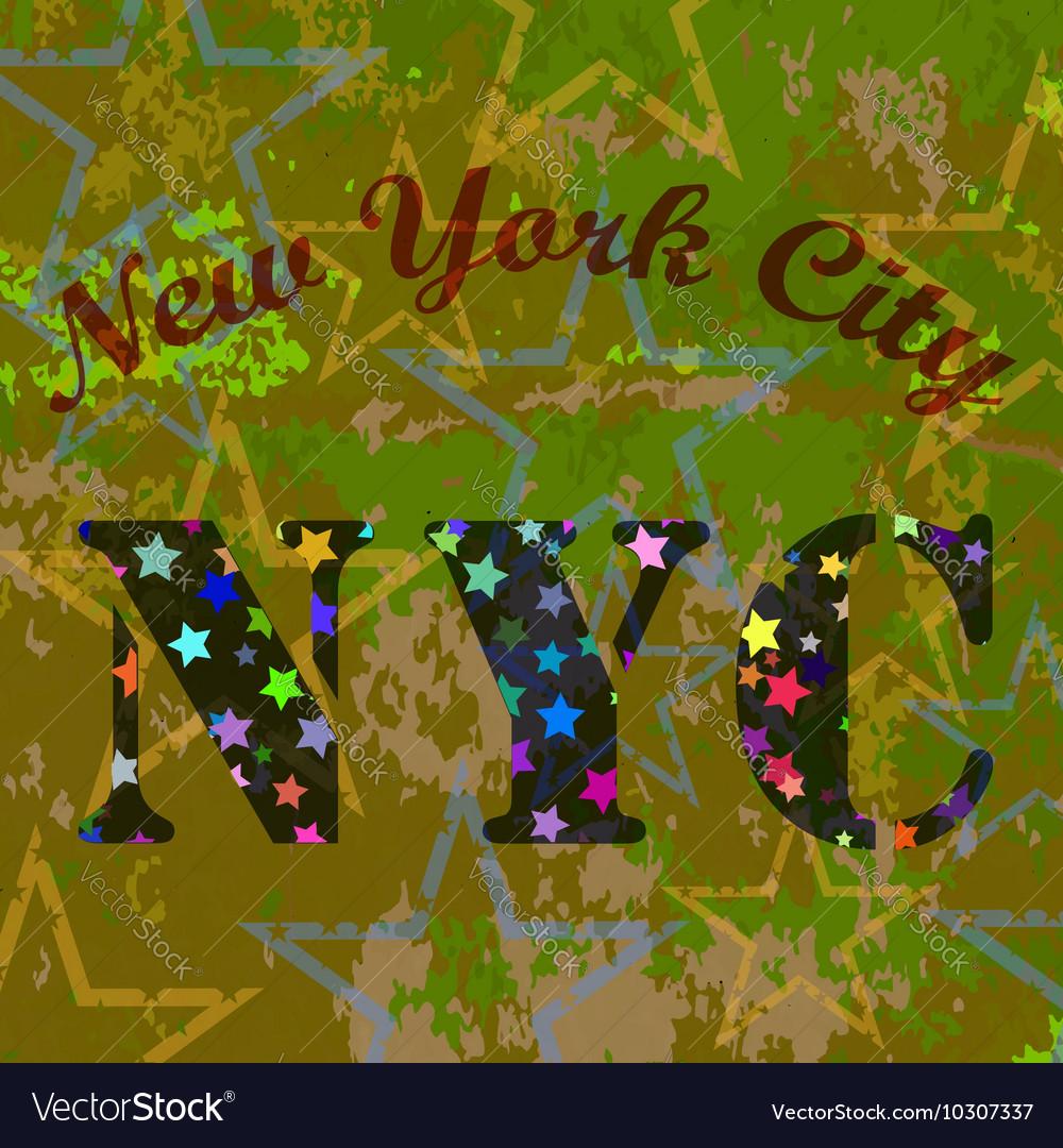 New York T-shirt Emblem Starry Basketball Logo