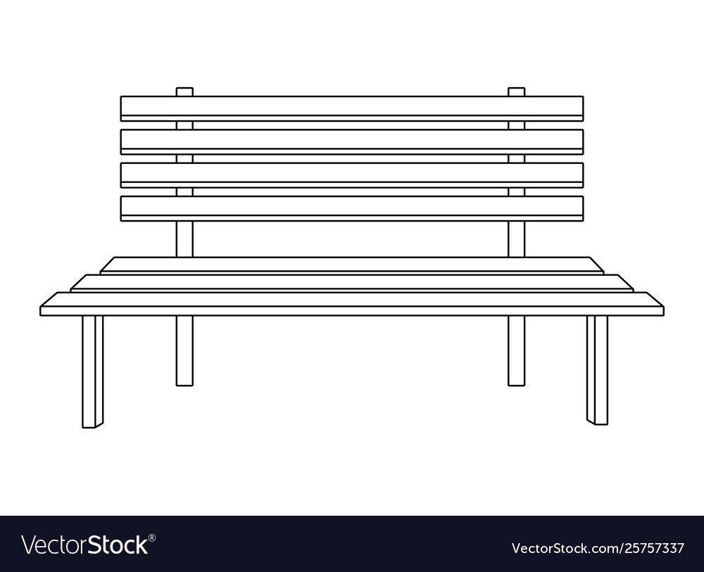 Brilliant Park Bench Icon Cartoon Isolated Black And White Machost Co Dining Chair Design Ideas Machostcouk