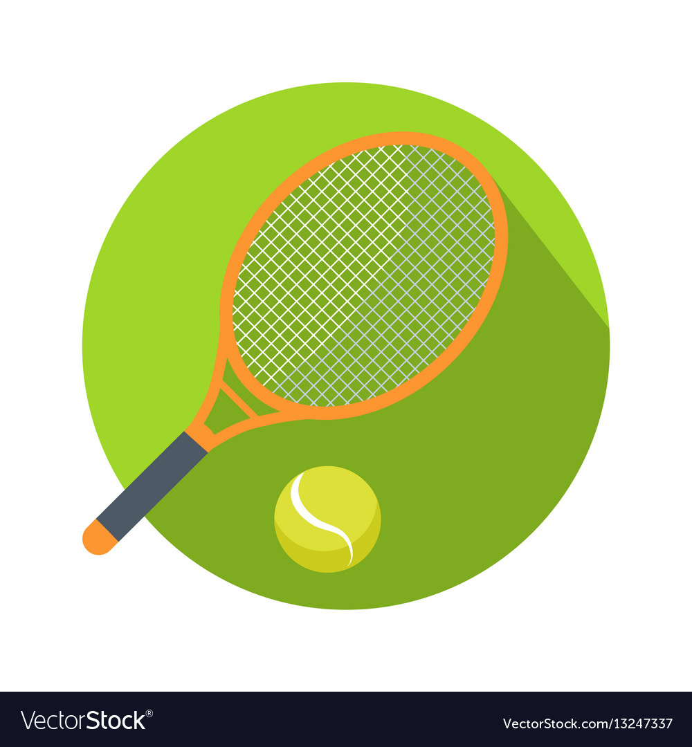 Racket and ball icon logo for tennis web button