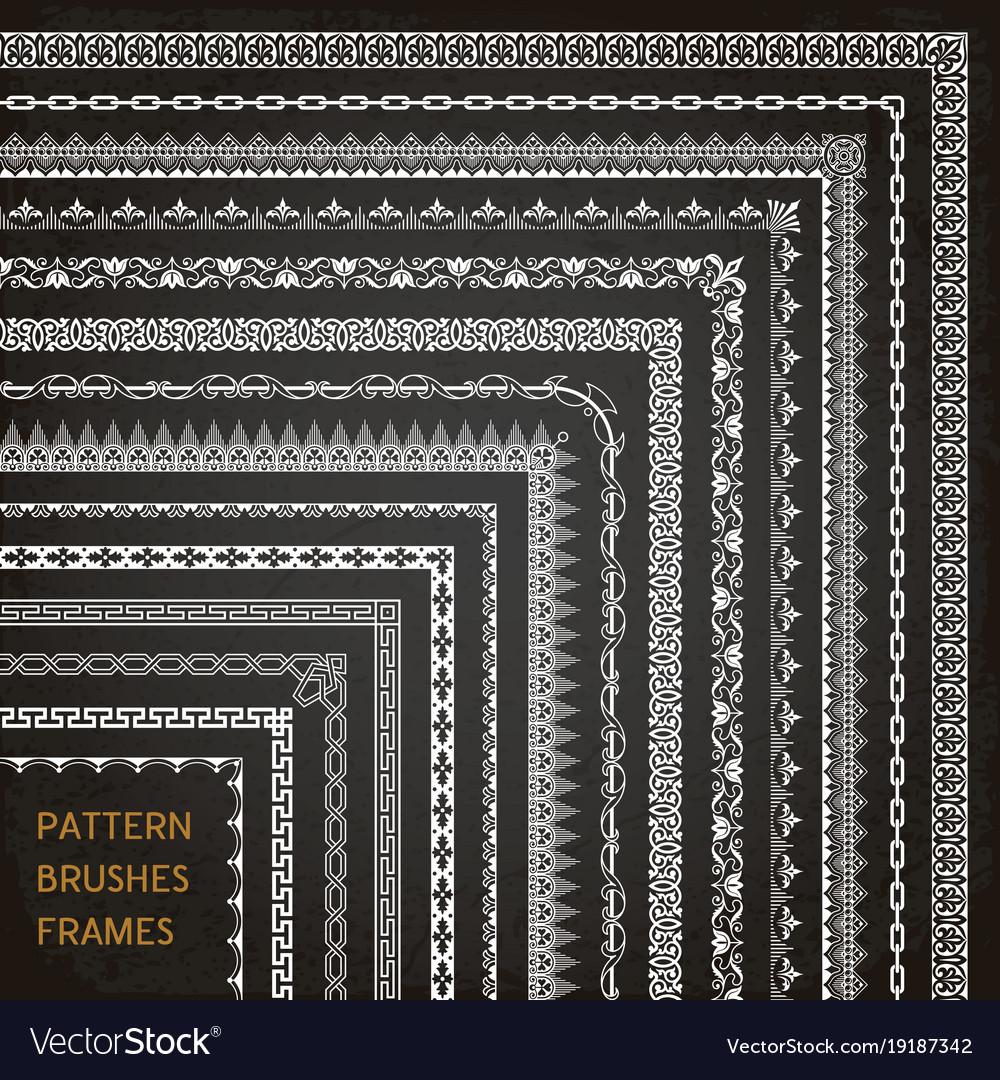 Border frame line pattern brushes corners 1