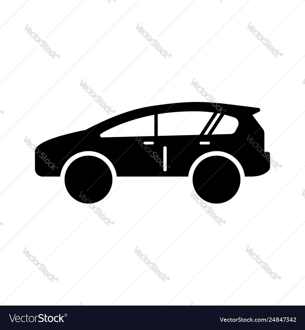 Car icon in flat style symbol