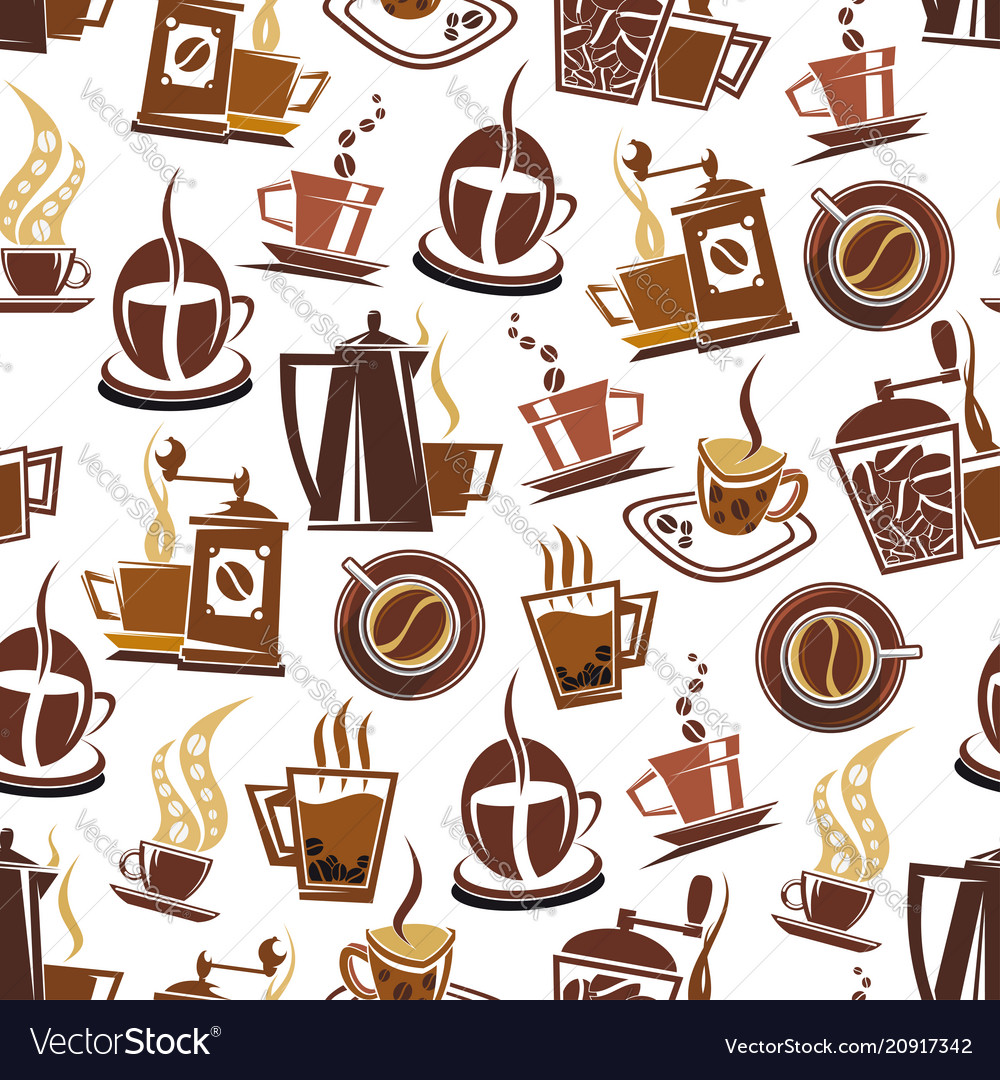 Coffee and beans pattern