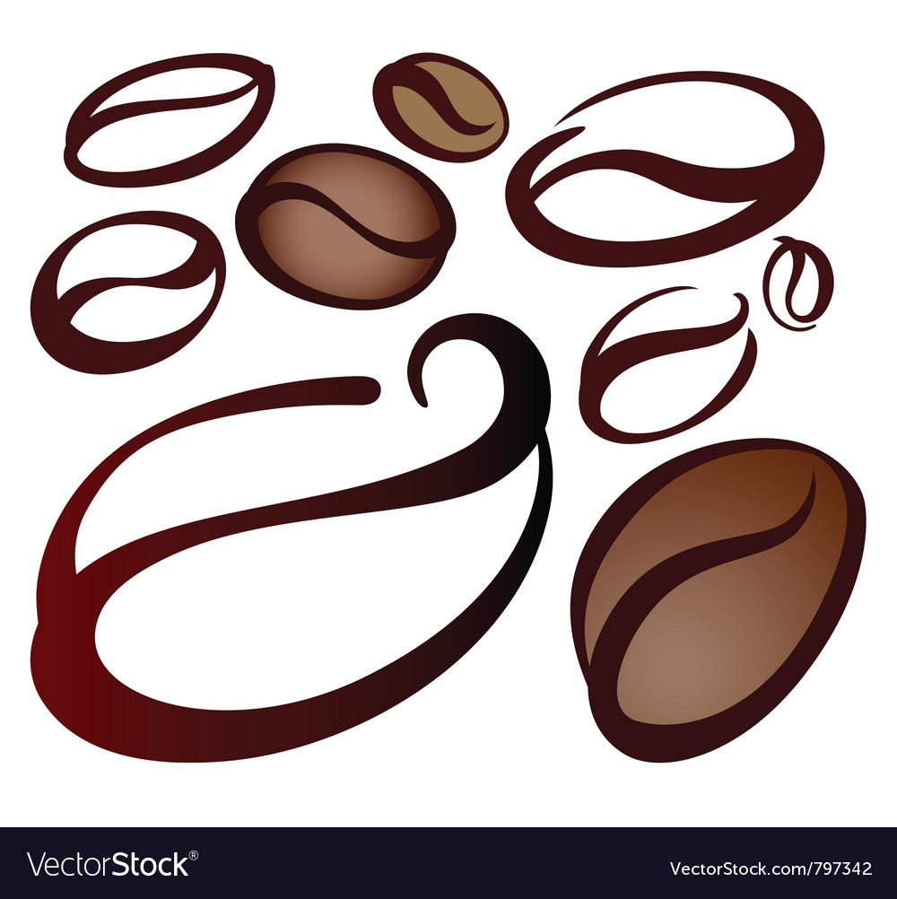 coffee beans royalty free vector image vectorstock vectorstock