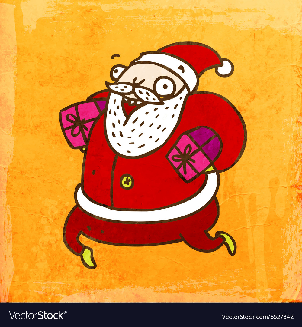 Father Christmas Cartoon Images.Father Christmas Cartoon Vector Image On Vectorstock