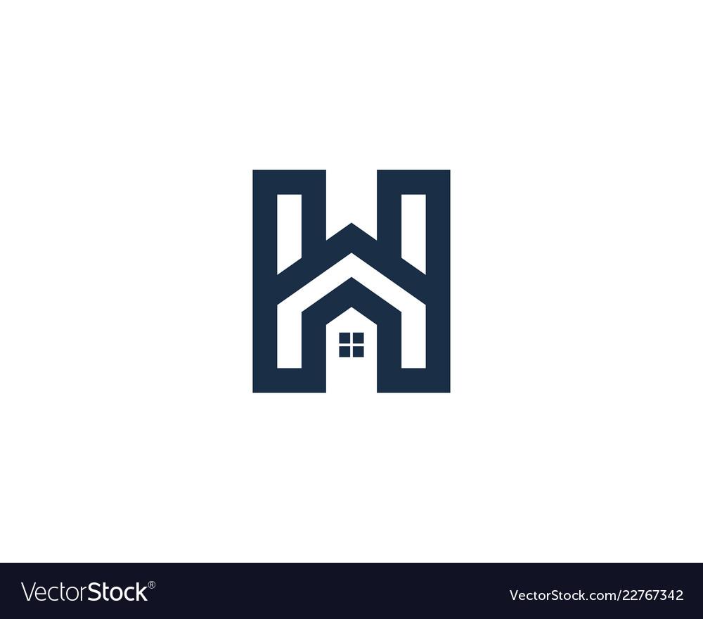 Home letter h logo icon design