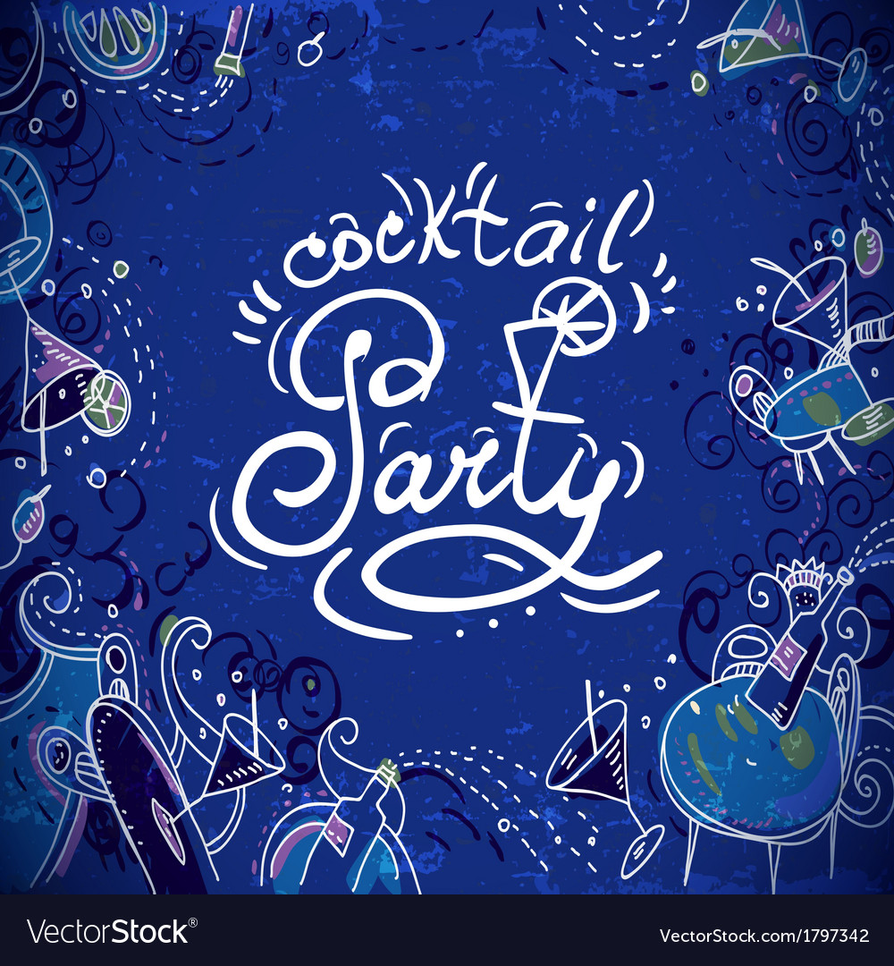 invitation card to cocktail party royalty free vector image