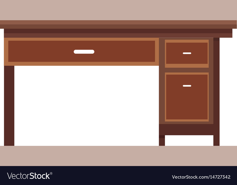 Office desk wooden furniture elegant image vector image