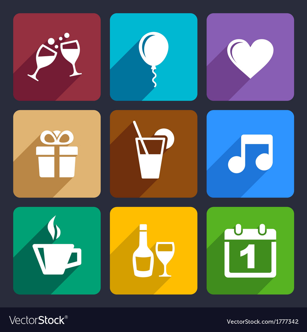 Party and Celebration icons set 29