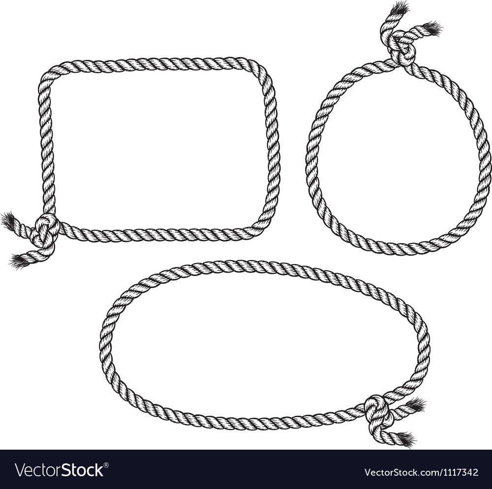 rope frame royalty free vector image vectorstock rh vectorstock com round rope border vector rope border vector art free