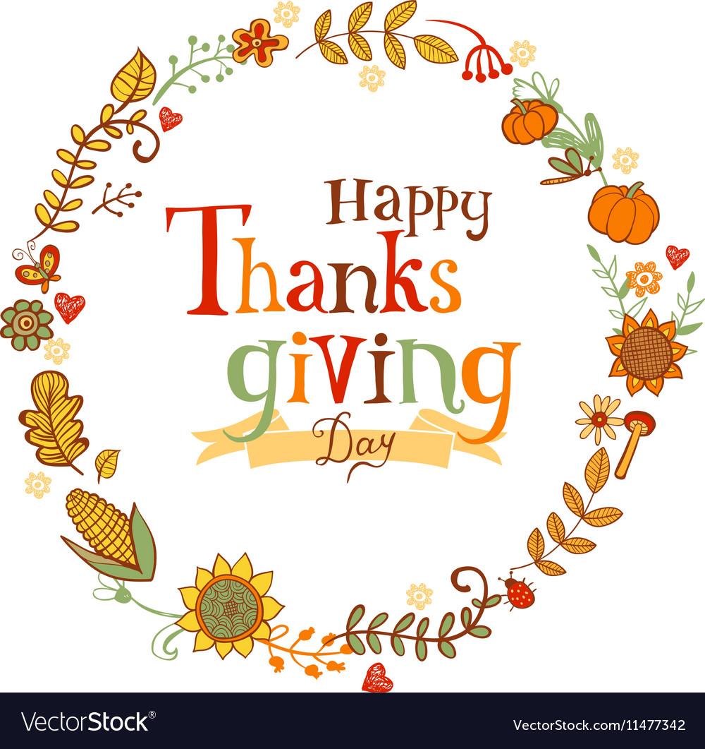 Thanksgiving festive frame