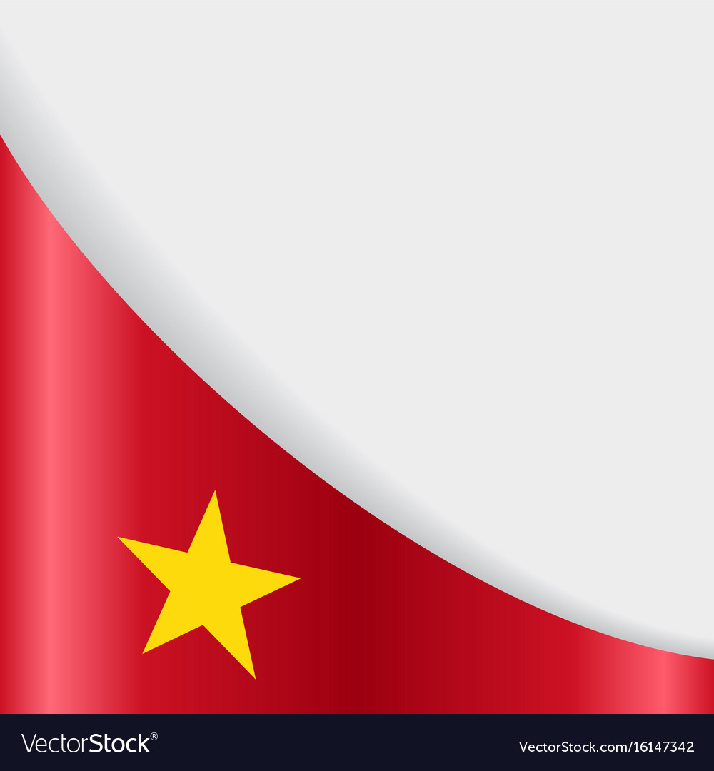 Vietnamese Flag Background Royalty Free Vector Image