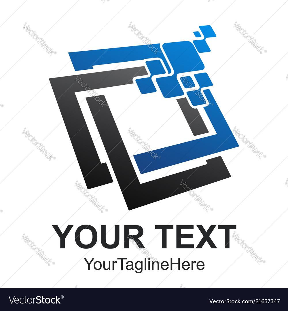Abstract data tech logo design computer data