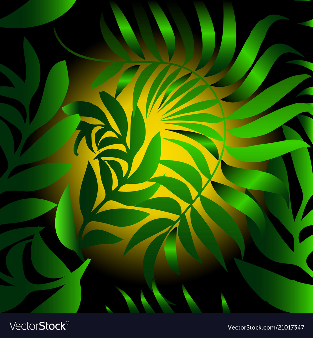 Abstract leafy seamless pattern green