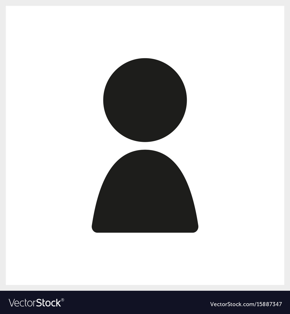 Black human icon in simple design vector image