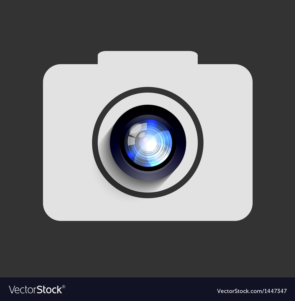 Camera icon background Eps10 vector image