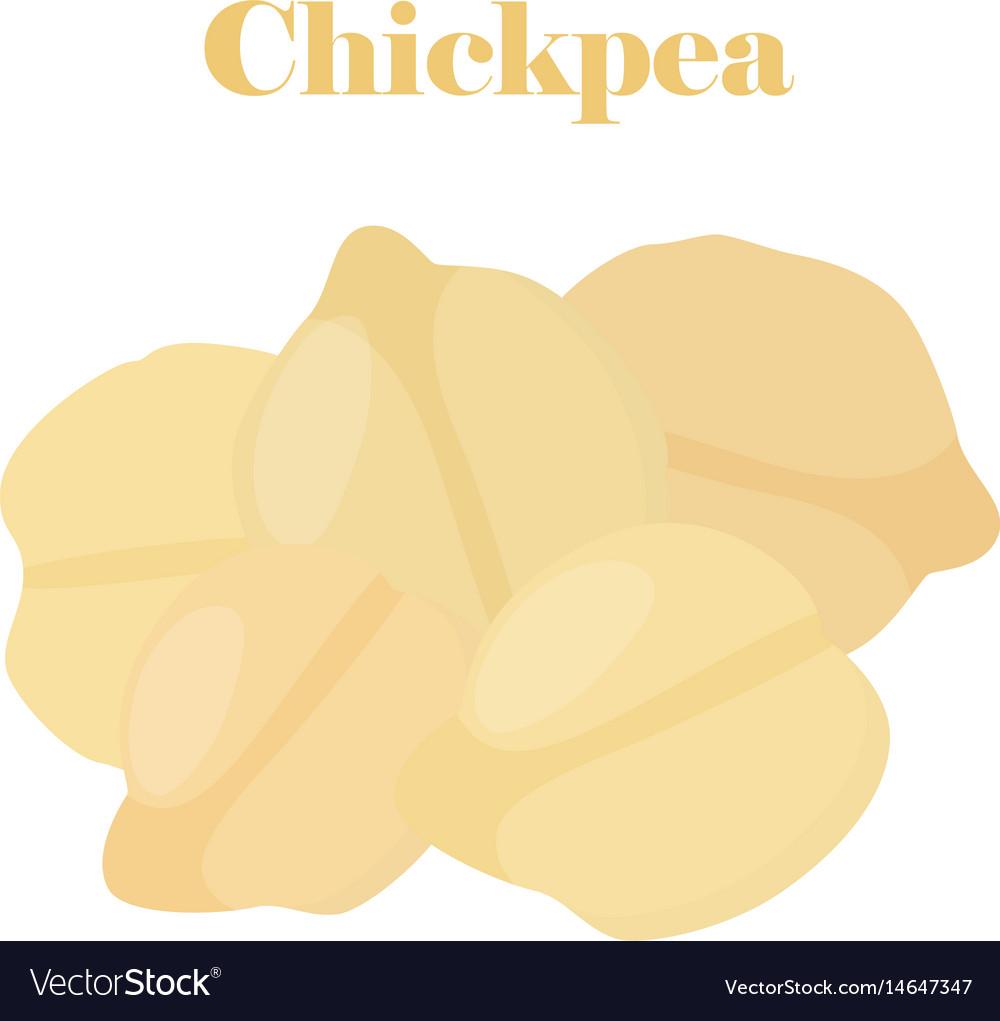Chickpea bengal gram cartoon flat style