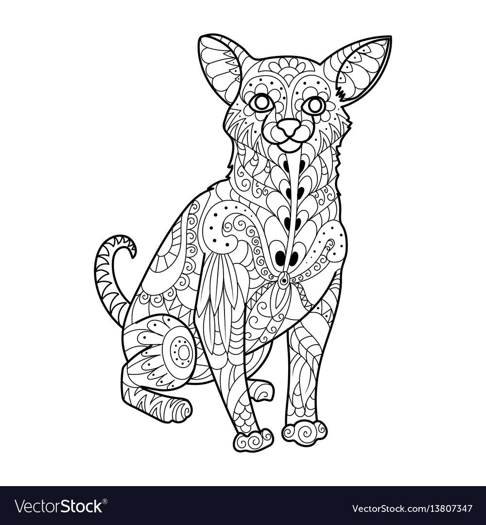 Chihuahua dog coloring book Royalty Free Vector Image