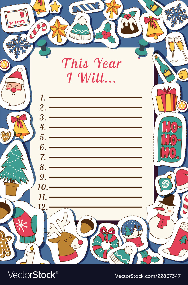 Christmas 2019 happy new year santa letter