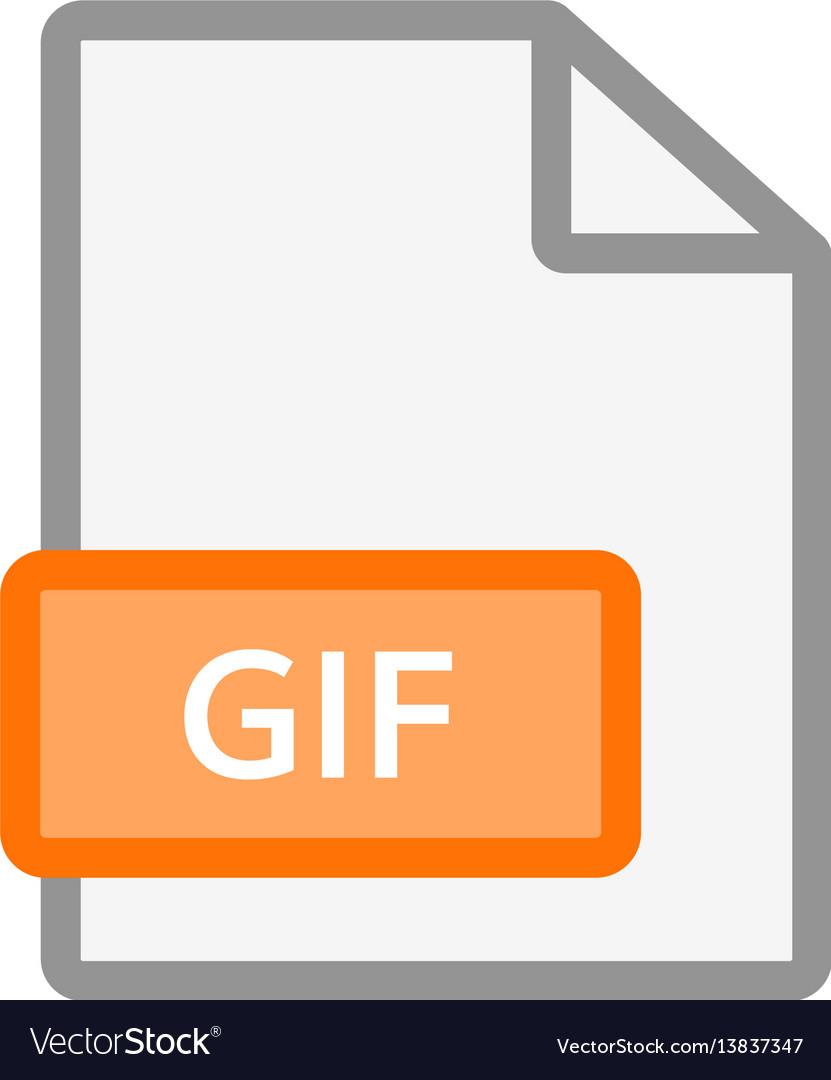 Gif file icon gif format document symbol