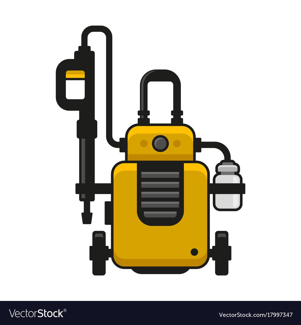 High Pressure Washer Car Wash Machine Royalty Free Vector
