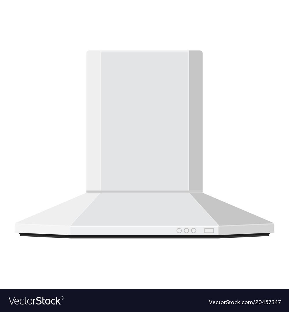 Hood kitchen air vent flat design