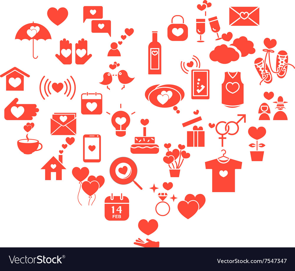 Love mix icons heart