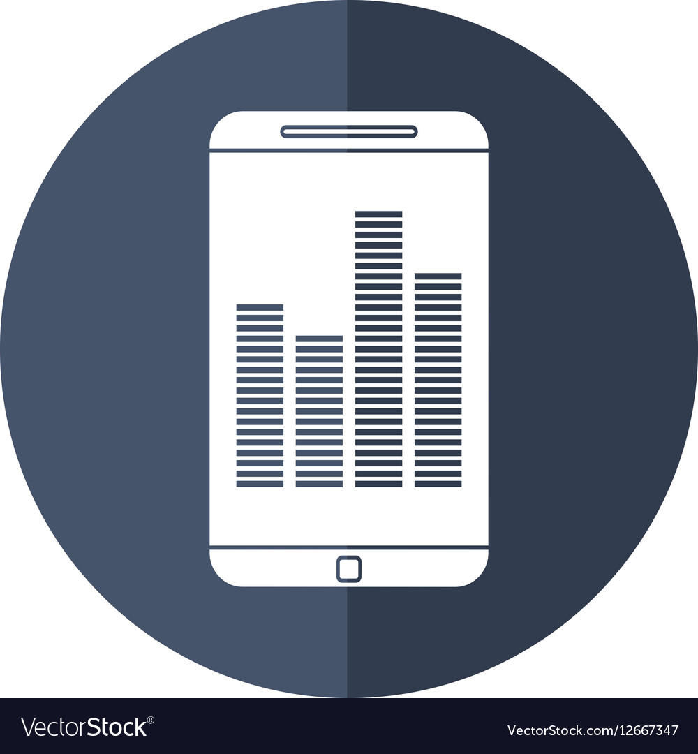 Smartphone screen equalizer music shadow