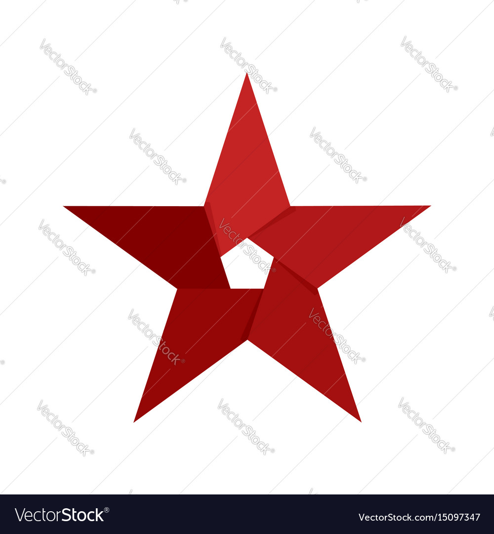 Star emblem abstract logo company sign isolated vector image