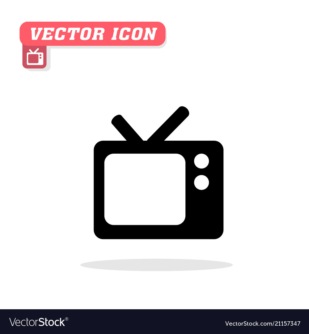 Tv icon white background image