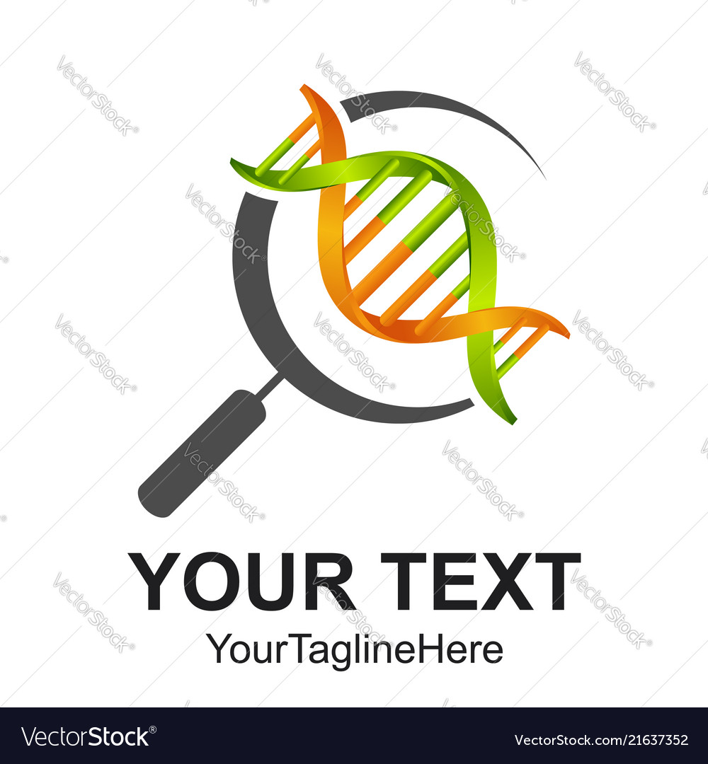 3d search dna line icon symbol and sign design